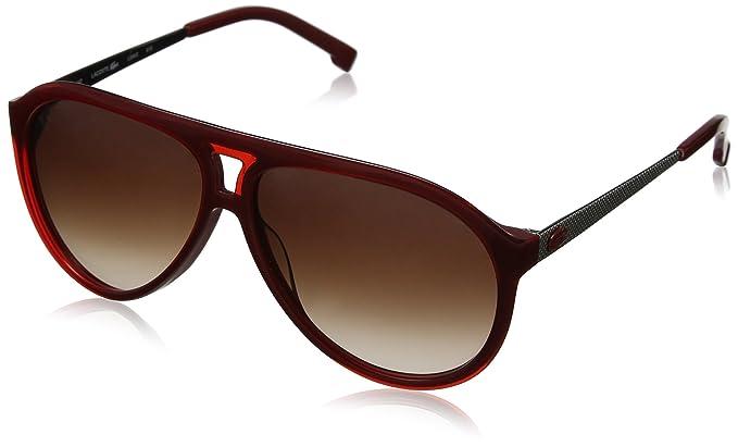 Lacoste L694S - gafas de sol Hombre, Gris (Red/Silver ...
