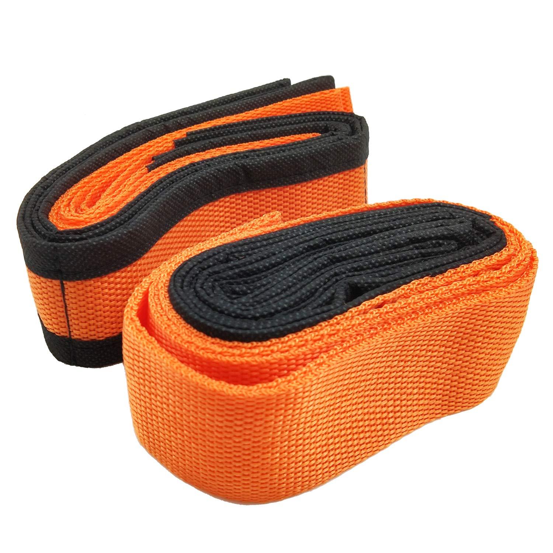orange Ceinture de d/ém/énagement de meubles en corde de transport Sangles de levage et de d/ém/énagement pour 2 personnes
