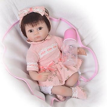 Amazon.es: KEIUMI Muñecas de bebé reborn de 43 cm de silicona suave ...