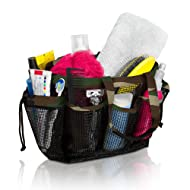 Simply Things Heavy Duty Mesh Shower Caddy and Bath Bag Organizer Tote with 9 Storage Compartments and Two Reinforced Handles. This Mesh Shower Bag is Quick Drying for Dorm, Gym, or Camping - (Camo)