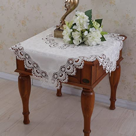 Amazoncom Lace tablecloth bedside table cover TV cover towel