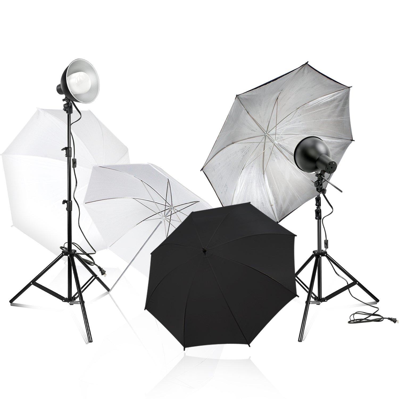 6f69cd80d634 Amazon.com : Julius Studio White and Black Umbrella LED Day Light ...