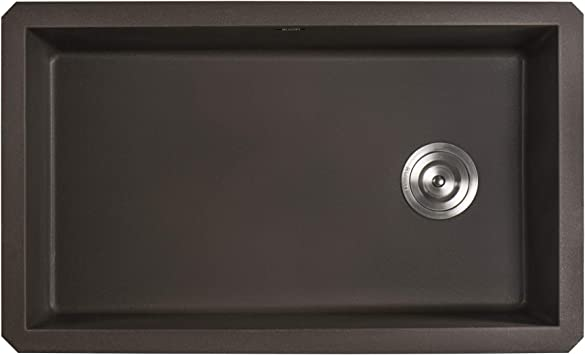 Ruvati 32 X 19 Inch Undermount Granite Composite Single Bowl Kitchen Sink Espresso Rvg2033es Amazon Com
