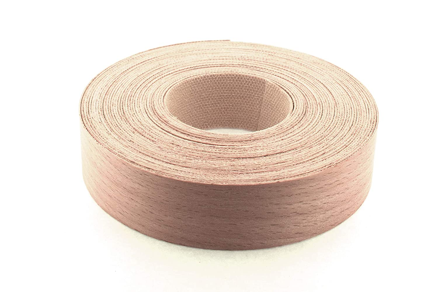 22mm Beech Veneer Edging - 7.5m Roll - Pre-Glued Iron-On Real Wood Edging Tape for Easy DIY Application WoodPress