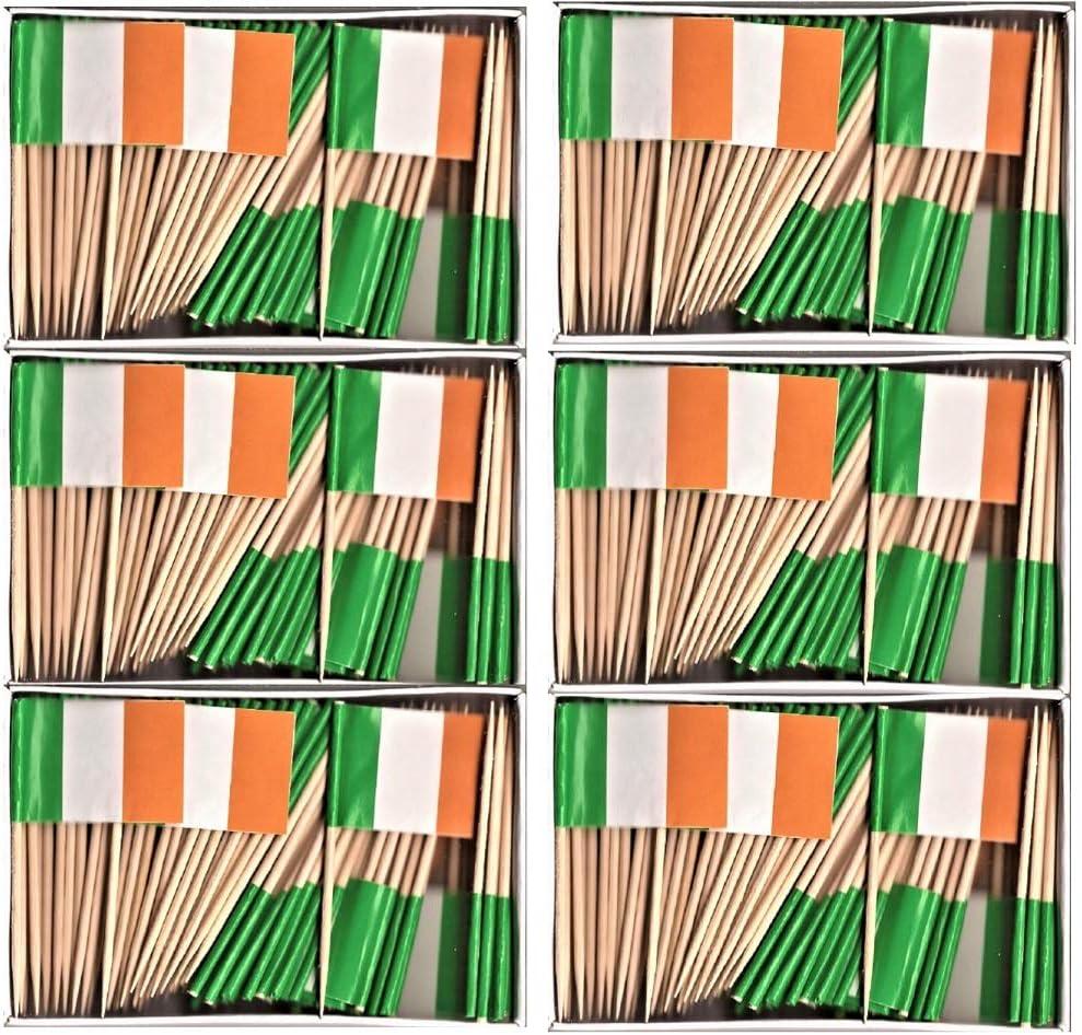 "1000 Count Ireland Irish 2.5/"" Mini Toothpick Picks Flags"
