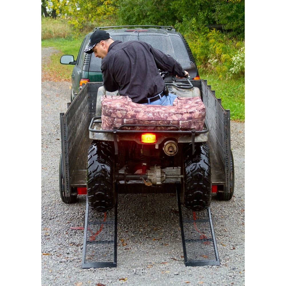 Rage Powersports ST-4811-1600-M-V2 Steel ATV Trailer Ramp (48.5'' Black, Pair) by Black Widow (Image #1)
