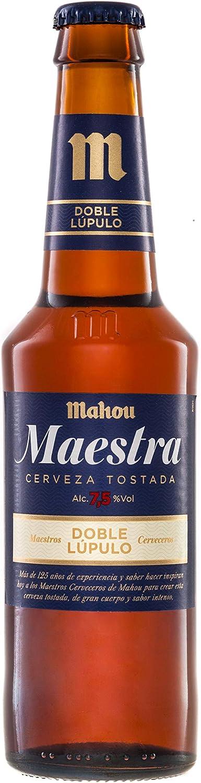 Mahou Maestra Doble Lúpulo Cerveza Lager Tostada, 7.5% Volumen de Alcohol - Pack de 24 x 33 cl: Amazon.es: Alimentación y bebidas