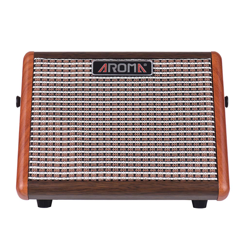 AROMA 15W Portable Acoustic Guitar Amplifier Amp BT Speaker Built-in Rechargeable Battery with Microphone Interface AG-15A: Amazon.es: Instrumentos ...