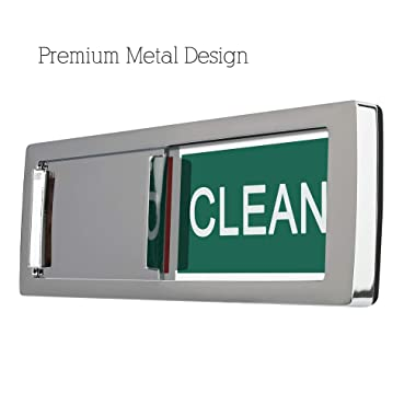 Metal Design Dishwasher Magnet Clean Dirty Sign, 2019 New Design Decorative Dishwasheer Indicator Slidee Reminder with Sticky Tab Adhesion, Slide Signs Cool Kitchen Gadgets