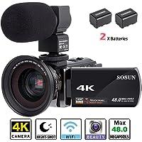 Video Camera Camcorder SOSUN HD 1080P 24.0MP 3.0 inch LCD 270 Degrees Rotatable Screen 16X Digital Zoom Camera Recorder 2 Batteries(301S-Plus)