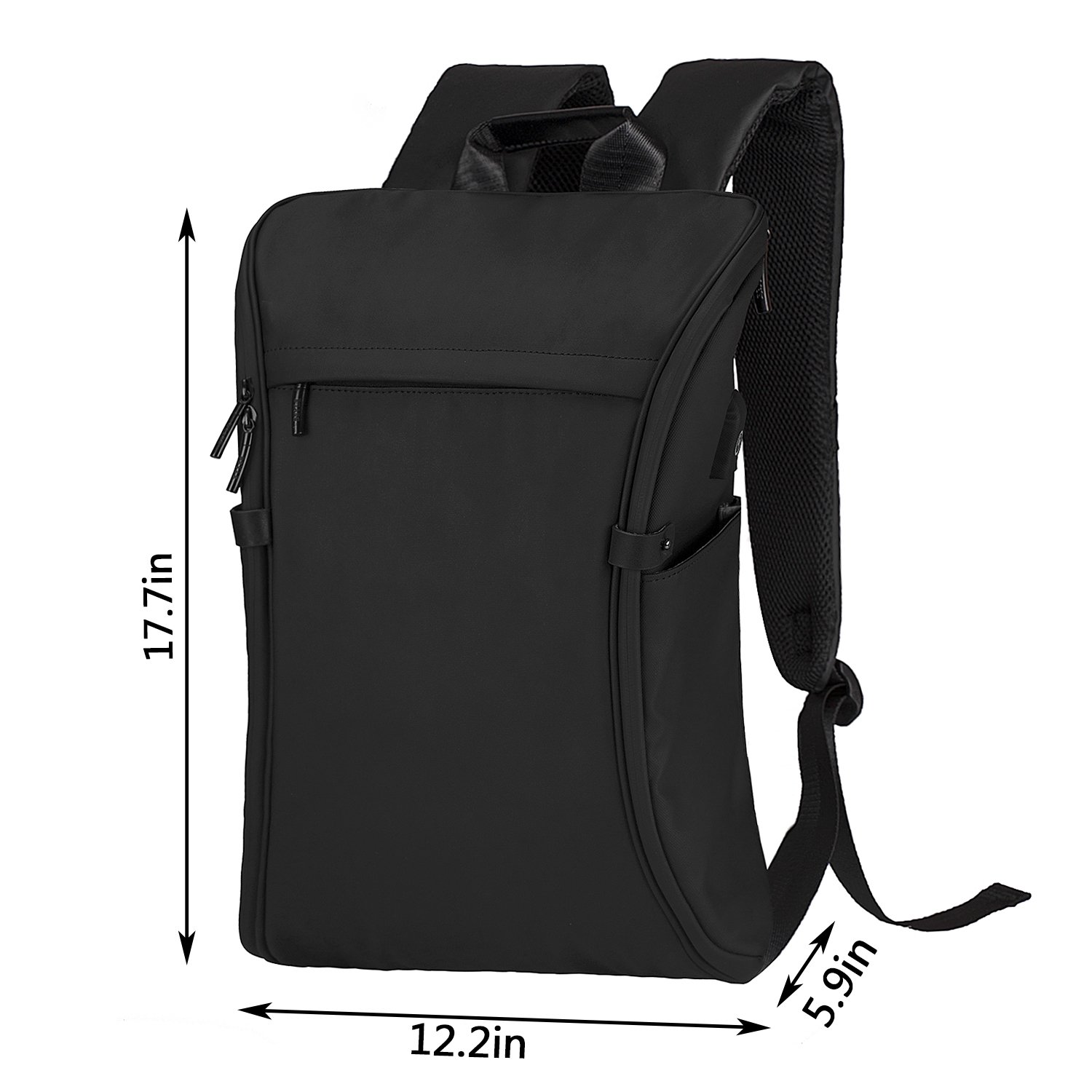 Business Laptop Backpack, Becky Travel College School Computer Bag with USB Charging Port, Anti-Theft Water Resistant BookBag for Men & Women Fits 15.6 Inch Notebook, Black by BECKY (Image #2)