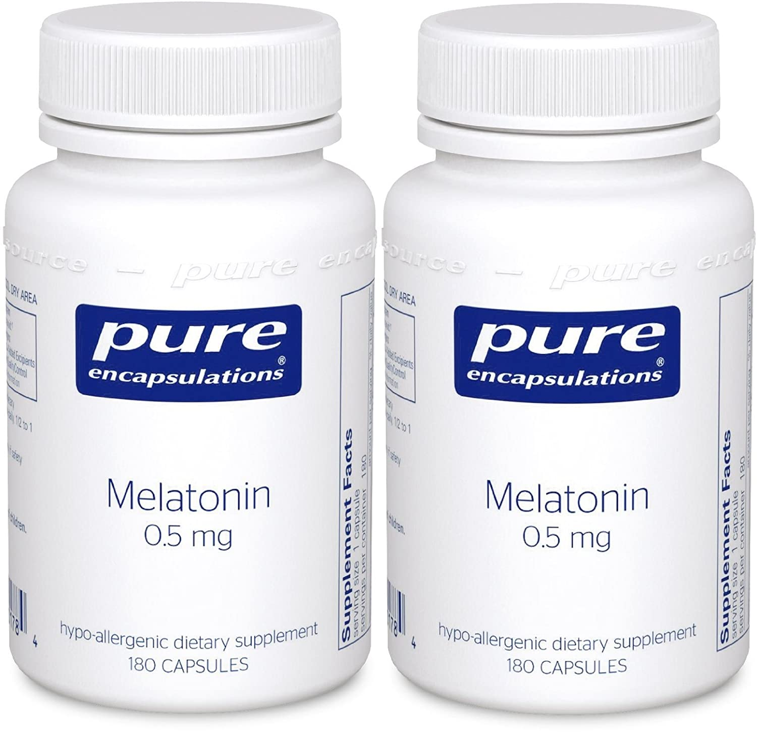 Amazon.com: Pure Encapsulations - Melatonin 0.5mg 180c - 2 Pack: Health & Personal Care