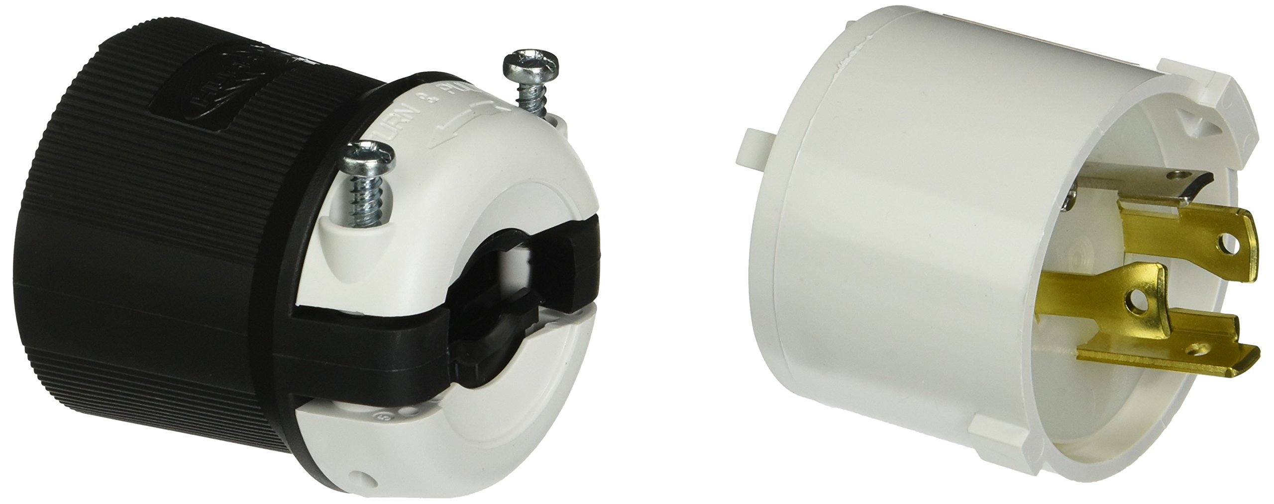 Hubbell HBL2711S Locking Safety Shroud Plug, 30 amp, 125/250V, L14-30P