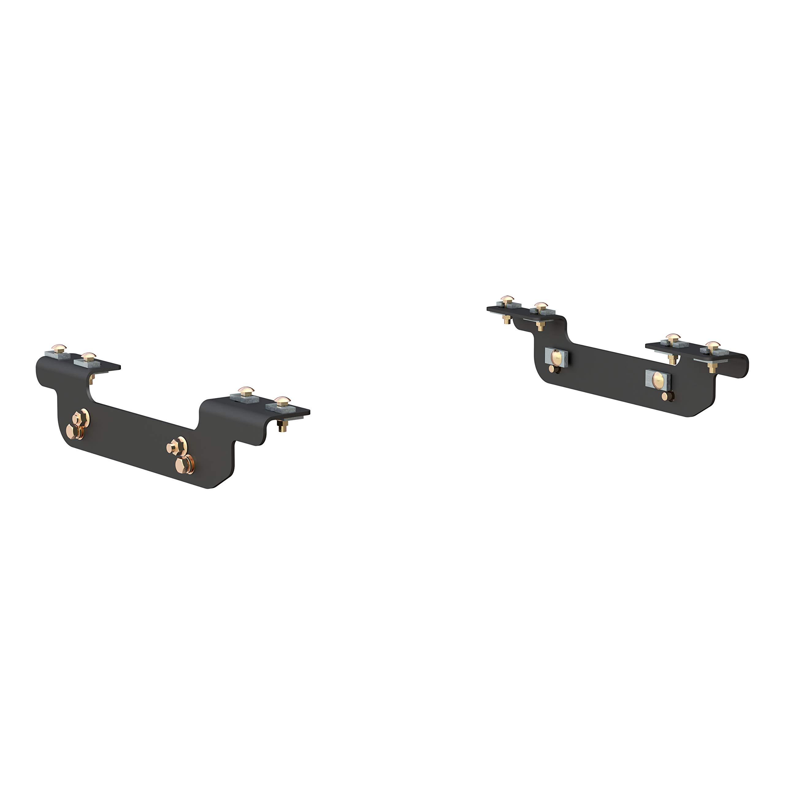 CURT 16411 Black 5th Wheel Hitch Installation Brackets for Select Chevrolet Silverado, GMC Sierra 2500, 3500 HD