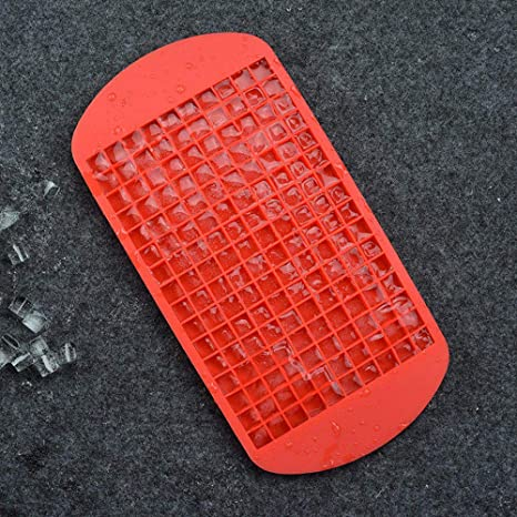 160 Grid Silicone Ice Tray Silicone Crushed Ice Maker Mini Square Ice Grid Mold