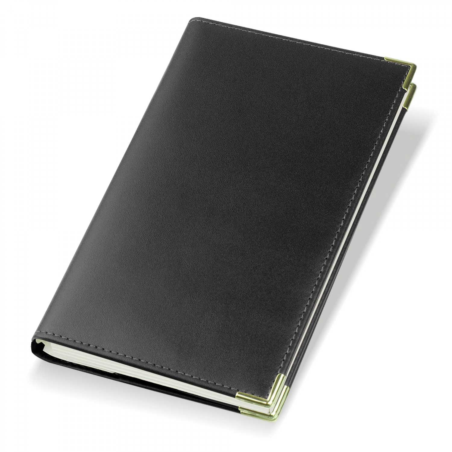 2019 Oxford Leather Diary Cover and Diary Insert - Black - Refillable - 901 Gilt Edged Promotions