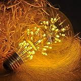 KINGSO E27 G95 Ampoule LED Globe Edison Décorative Lampe Rétro 3W 220-240V Incandescente Vintage Antique Non-Dimmable 200LM 2300K Blanc Chaud