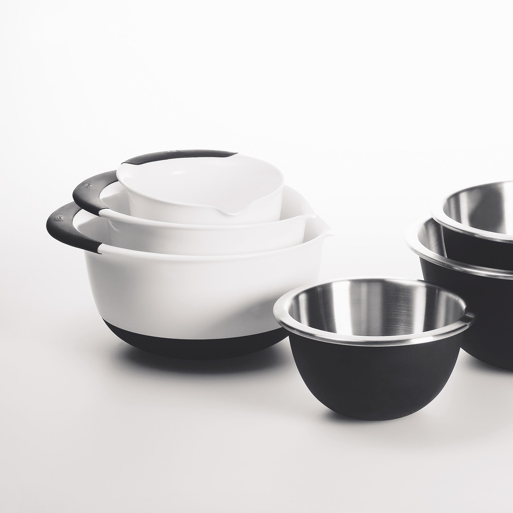 OXO Good Grips Mixing Bowl Set with Black Handles, 3-Piece by OXO (Image #4)