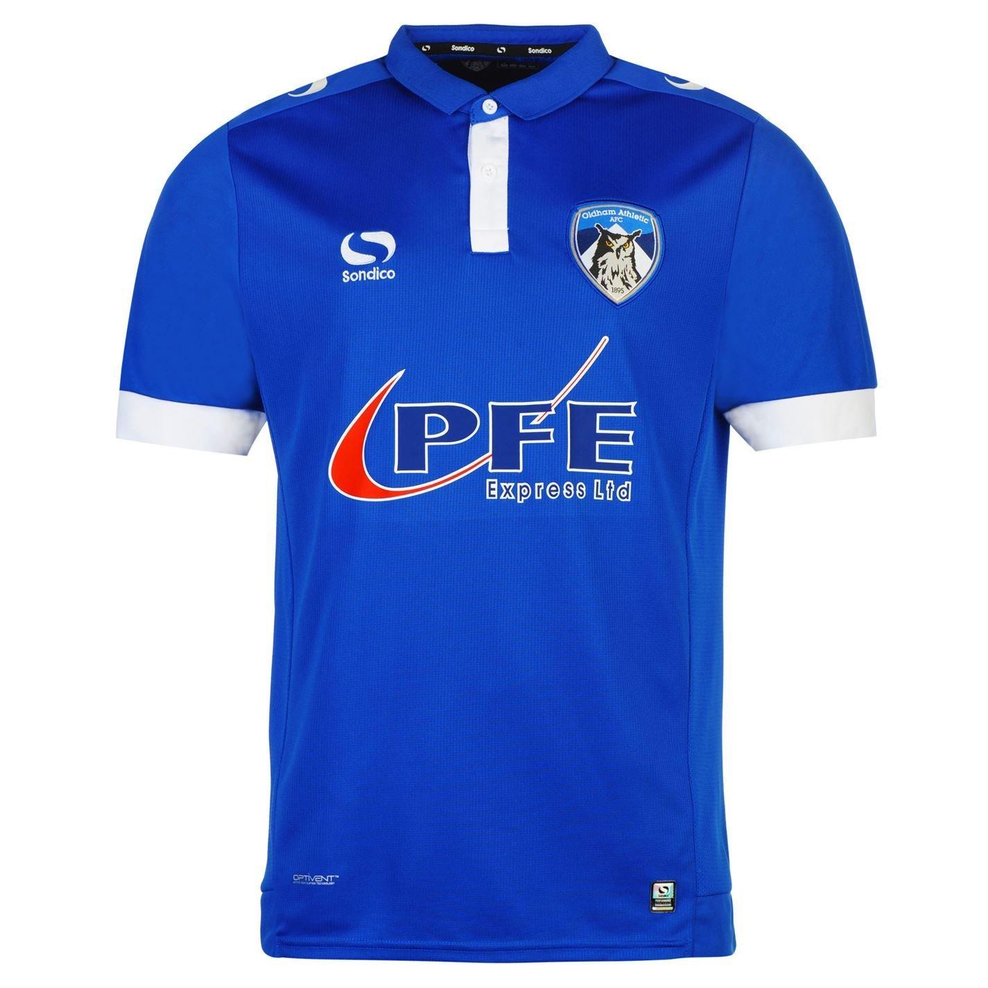 Sondico Old FC Home Jersey 2016 2017メンズブルーサッカーシャツ B01M0IBWDMMedium