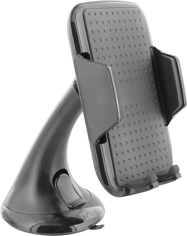 T'nB Soporte Universal de Smartphones para el Coche - sujeción de Ventosa con rotación 360º.