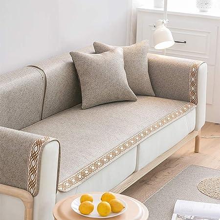 CFJKN Funda de sofá para sofá de Piel, 3 Fundas de cojín ...