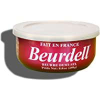 Beurdell Finest Quality Butter: 3% Salted Pasteurized AAA Grade Product of France 8.8oz/250g