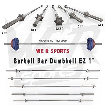 Gorilla Sports – Barra para Mancuernas Peso Levantamiento Spinlock Tríceps Rizo Bar Casa Aptitud Ez 1