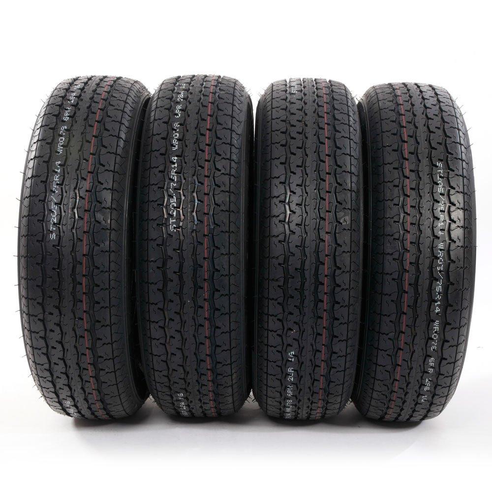 4PC Load Radial Trailer Tires ST205/75R14 6PR Load Range C