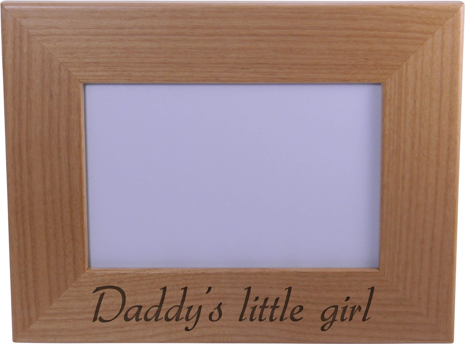 Daddy's Little Girl - Wood Picture Frame Holds 4x6 Inch Photo - Great Gift for Father's Day Birthday or Christmas Gift for Dad Grandpa Papa Husband