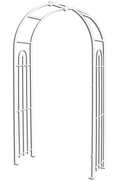 Panacea Products Arched Top Garden Arbor, White