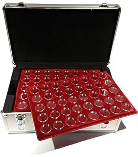 Großer Aluminium Münzkoffer Mit 12 Tableaus Für 480 2 Euro Münzen In
