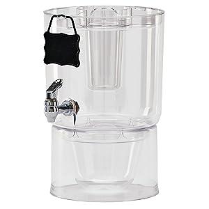 Buddeez 14401C-ONL Party Top New Beverage Dispenser 1.75 gallon Clear