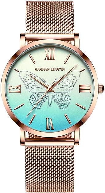 Hannah Martin Japón Relojes de Cuarzo para Mujer, a Prueba de Agua ...
