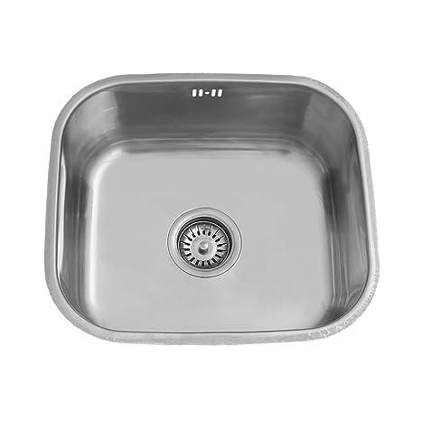 ENKI Lavello da cucina a incasso 1 vasca quadrata acciaio inox ...