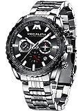 MEGALITH Relojes Hombre Relojes Grandes de Pulsera Militar Impermeable Cronografo Acero Inoxidable Reloj Hombres…