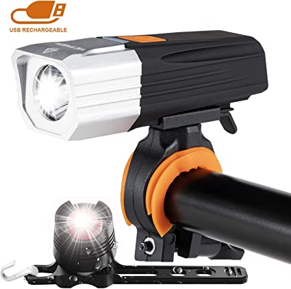 VastFire Easy Installation Waterproof Cycling Flashlight 2000 Lumens USB Rechargeable Bicycle Light LED Bike Front Light fits Road Bike Mountain Bicycle