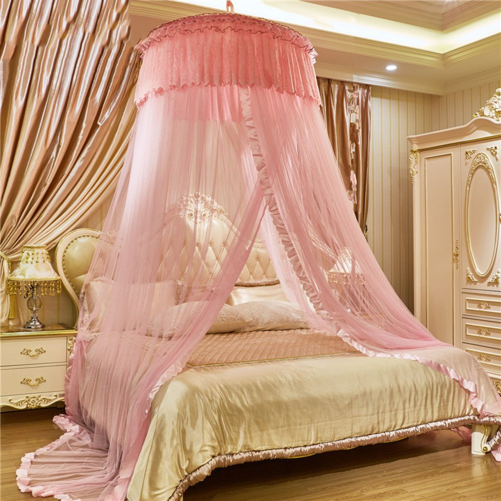 Dôme de Princesse européenne suspendue moustiquaire de lit baldaquin, Double Accueil Crypter Rideau de moustique épaissie-C Twin1