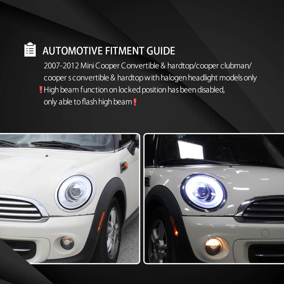 For Renault Clio MK3 H7 55w Clear Xenon HID High Main Beam Headlight Bulbs Pair