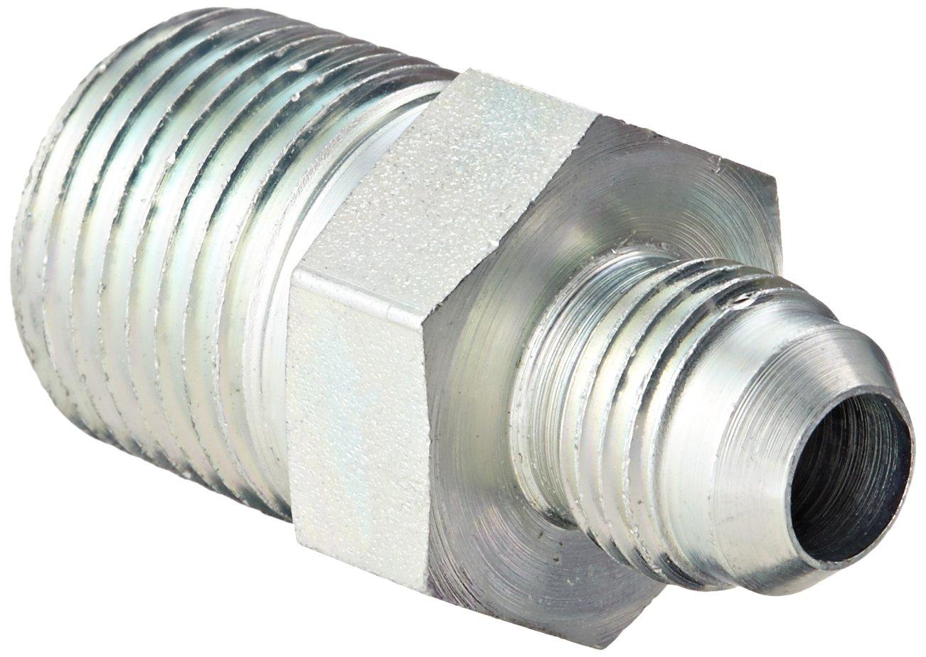 Eaton Weatherhead C5205X6X8 Carbon Steel SAE 37 Degree (JIC) Flare-Twin Fitting, Adapter, 1/2'' NPT Male x 3/8'' JIC Male (Pack of 10)
