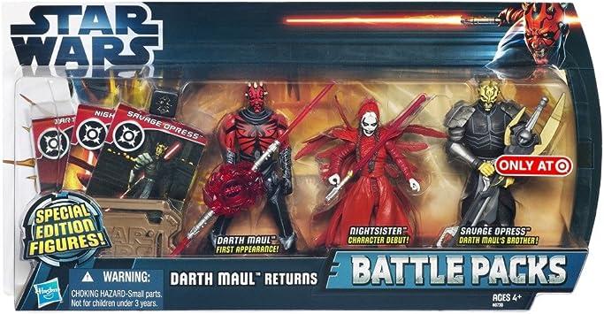 Star Wars The Clone Wars Battle Pack Darth Mauls Return con Savage ...