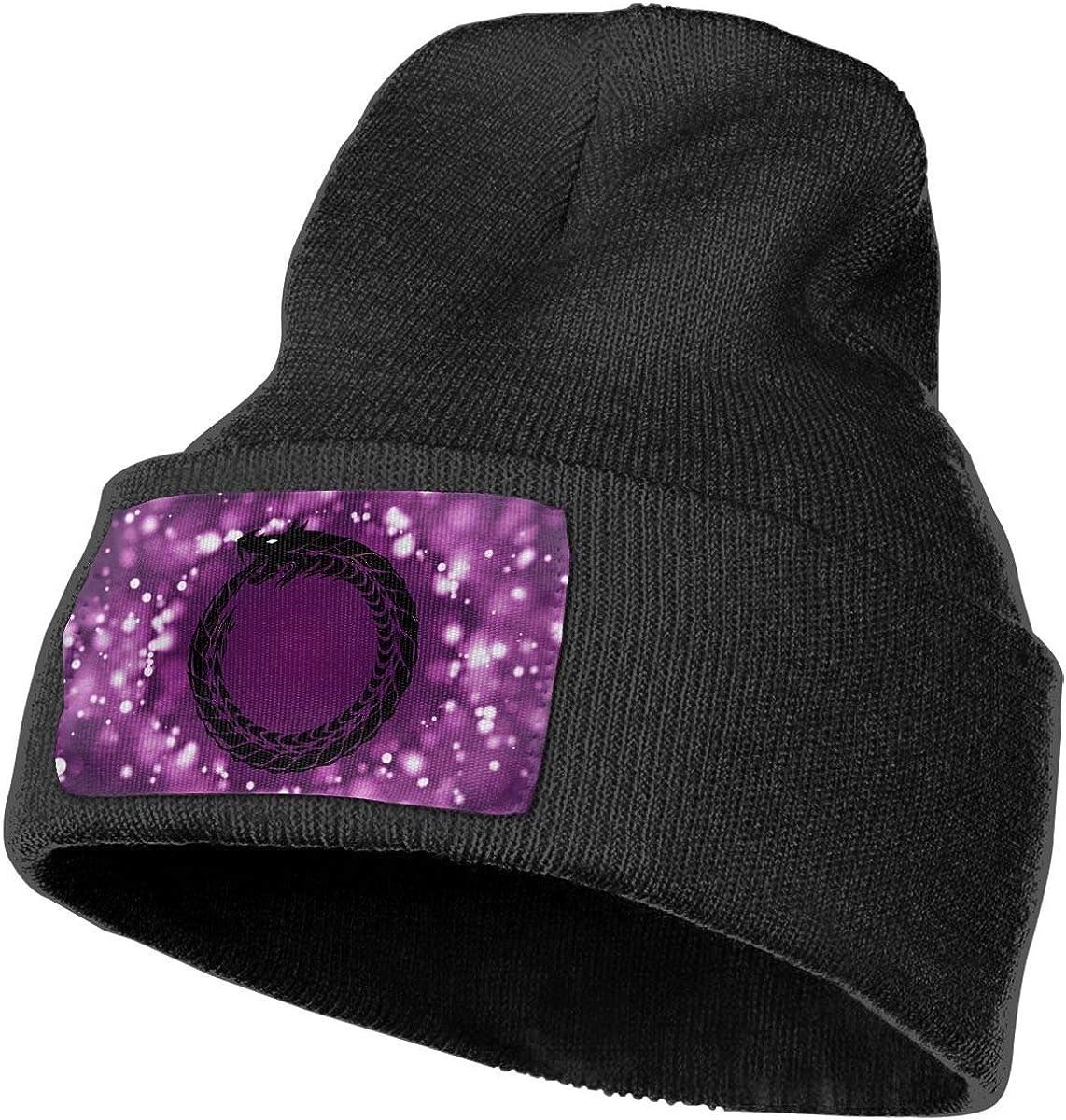 Ouroboros Men/&Women Warm Winter Knit Plain Beanie Hat Skull Cap Acrylic Knit Cuff Hat