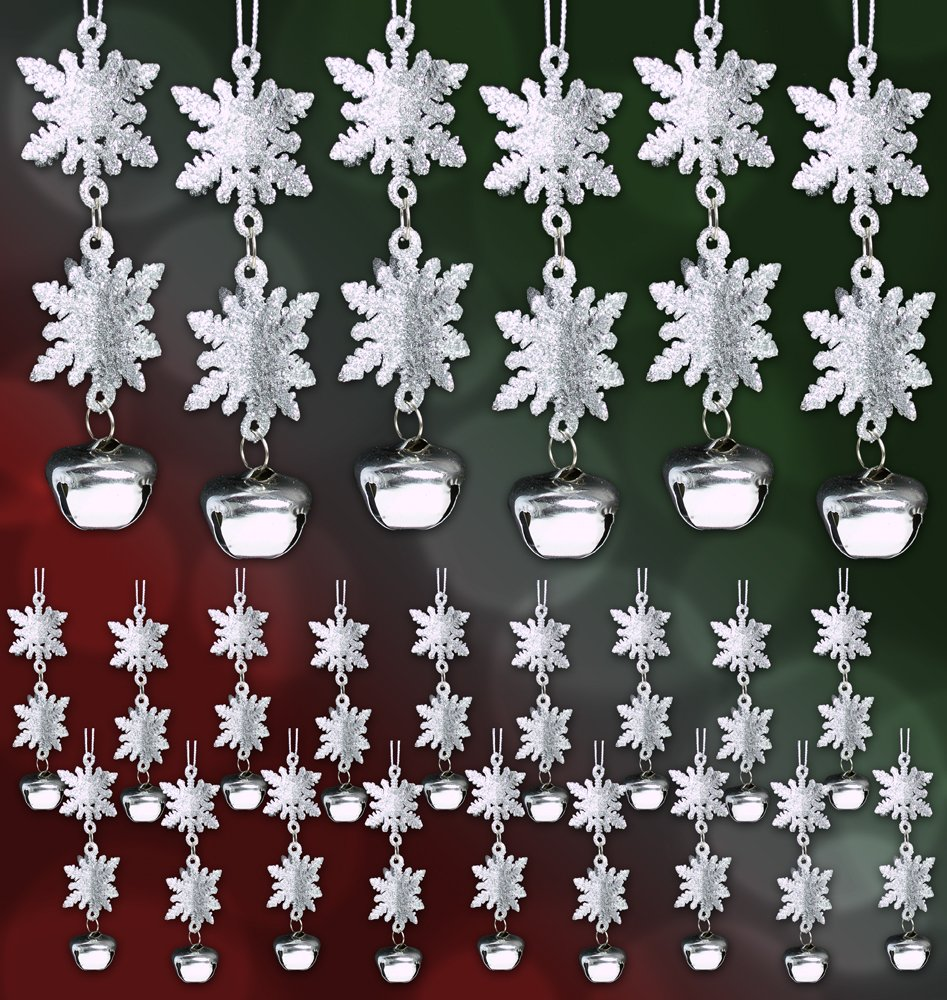 amazon com 3d snowflake christmas ornaments set of 12 silver