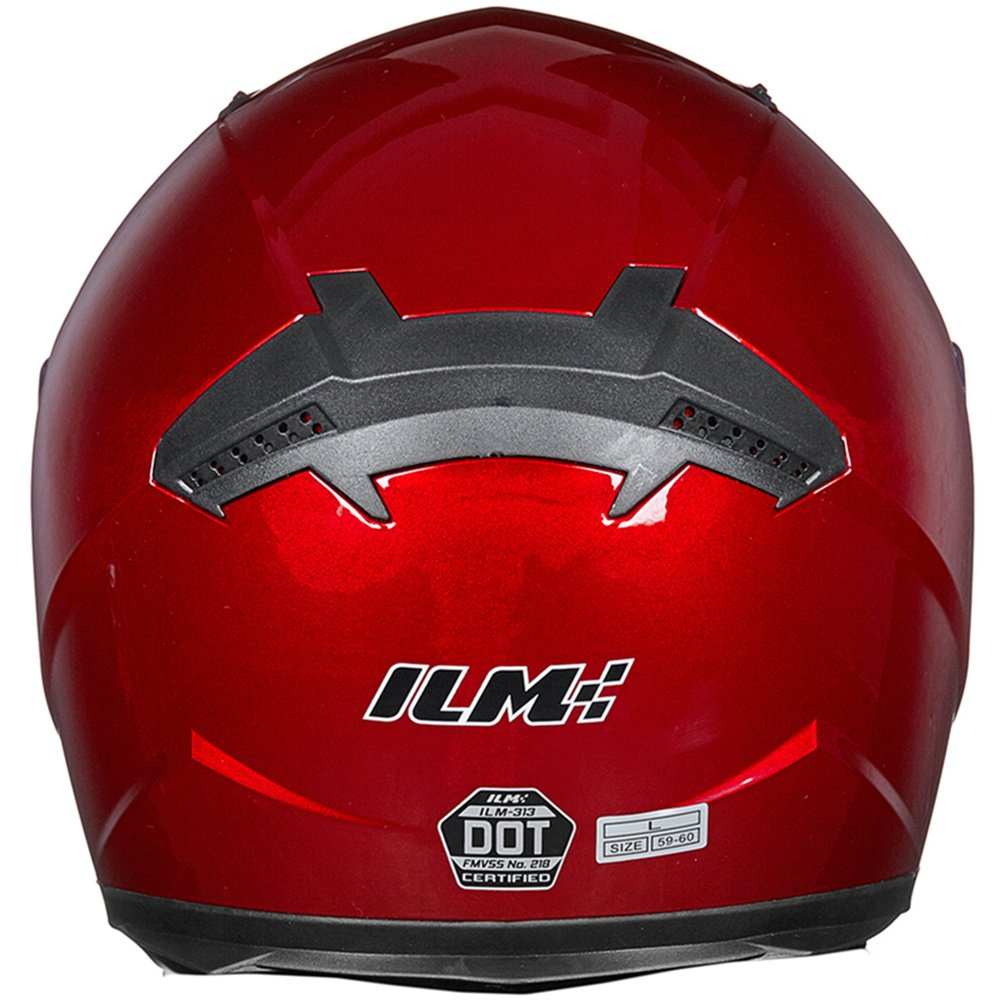 ILM Full Face Motorcycle Street Bike Helmet with Removable Winter Neck Scarf + 2 Visors DOT (L, Red) by ILM (Image #4)