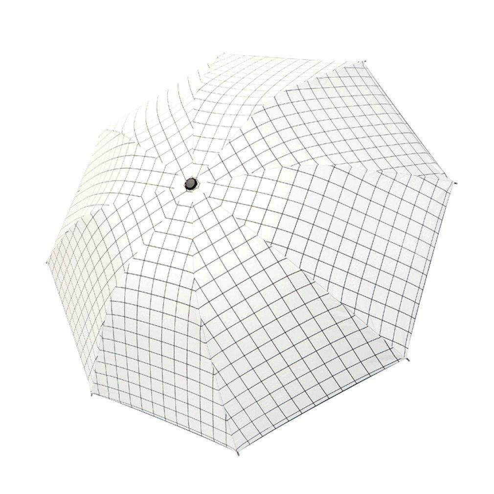 Guoke Umbrellas Sunscreen Uv Resistant Vinyl Umbrellas Folding Umbrella With Two Fine Rain, White Format