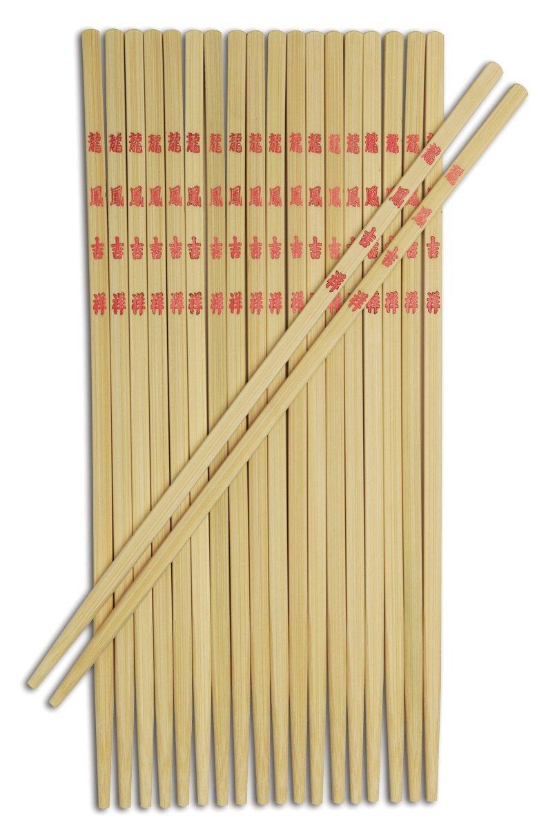 Joyce Chen 30-0043 Bamboo Table Chopsticks, 10 Pair 3780-A