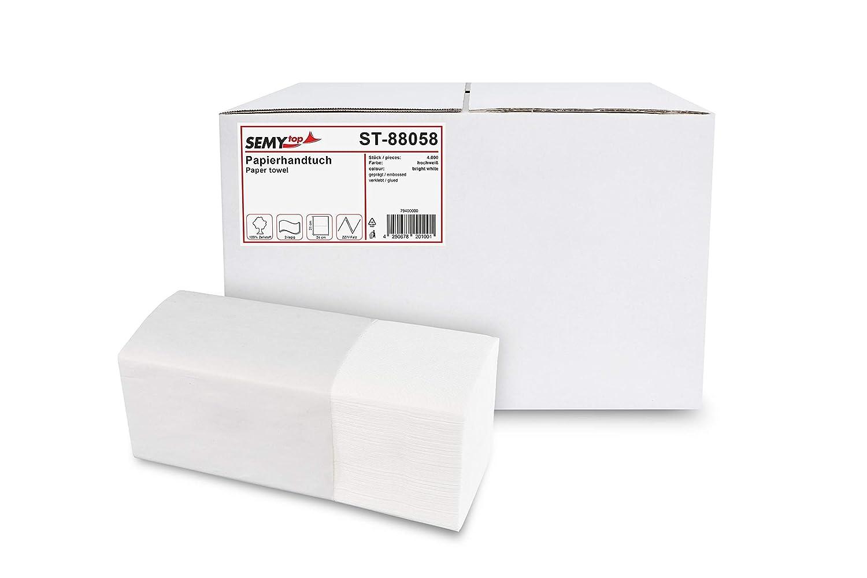Semy Papierhandtücher 2 Lagig Zz V Falz 24 5 X 22 Cm Hochweiss 4000 Blatt 1er Pack 1 X 1 Stück Gewerbe Industrie Wissenschaft