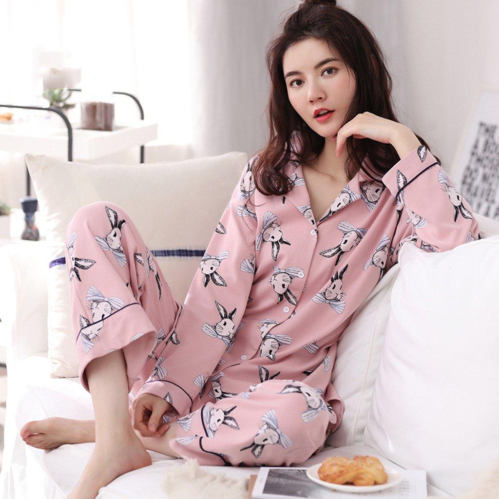 Pink : damas de damas otoño y el ( invierno de algodón ocio pijama ...