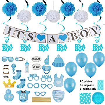 Amazon Baby Shower Decorations For A Boy Over 100 Pieces In