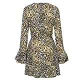 Womens Dress Fitfulvan Sexy V-Neck Leopard