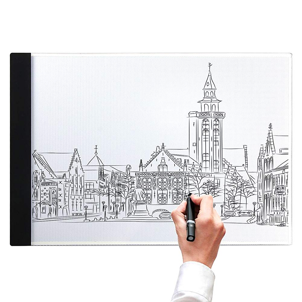 A4 Light Box, LB-A4 Super Thin LED Copy Board Drawing Light Pad with Brightness Adjustable, Art Craft Drawing Tracing Tattoo Board for Artists, Drawing, Animation, Sketching, Designing, Stencilling SAMTIAN